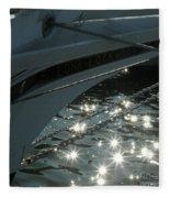 Edna's Bow Lights Fleece Blanket