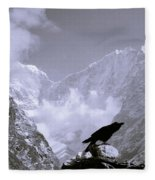 Eerie Himalayas Fleece Blanket