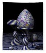Egg And Goblet Fleece Blanket