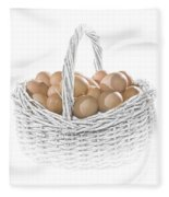 Eggs In A Woven Basket No.0064 Fleece Blanket