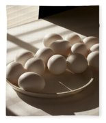Eggs Lit Through Venetian Blinds Fleece Blanket
