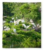 Egret Estuary Fleece Blanket