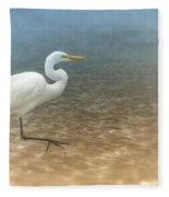 Egret Stroll Fleece Blanket