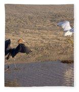 Egret Territory Fleece Blanket