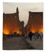 Egypt Luxor Temple Fleece Blanket
