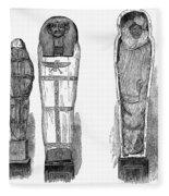 Egypt: Royal Mummies, 1882 Fleece Blanket