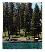Ehrman Mansion Lake Tahoe Fleece Blanket