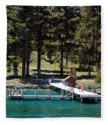 Ehrman Mansion Sugar Pine Point State Park Fleece Blanket