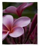 Eia Ku'u Lei Aloha Kula - Pua Melia - Pink Tropical Plumeria Maui Hawaii Fleece Blanket