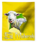 Eid Mubarak Fleece Blanket