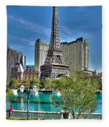 Eiffel Tower And Reflecting Pond Fleece Blanket