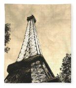 Eiffel Tower At Dusk Fleece Blanket
