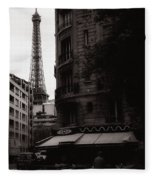Eiffel Tower Black And White 2 Fleece Blanket
