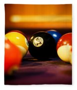 Eight Ball Fleece Blanket