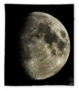 Eight-day-old Moon Fleece Blanket