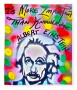 Einstein Imagination Fleece Blanket