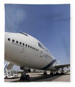 El-al Boeing 747-400 Fleece Blanket