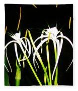 Elaines Flowers Fleece Blanket