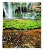 Elakala Falls Portrait Fleece Blanket