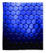 Electric Blue Circle Bumps Fleece Blanket