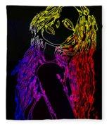 Electric Girl Fleece Blanket