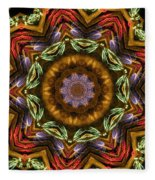Electric Mandala 2 Fleece Blanket