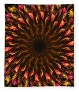 Electric Mandala 4 Fleece Blanket