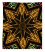Electric Mandala 7 Fleece Blanket