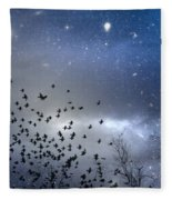 The Night Was Electrically Charged Fleece Blanket