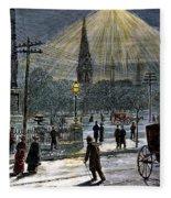 Electric Streetlight, 1881 Fleece Blanket