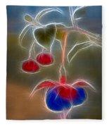 Electrifying Fuchsia Fleece Blanket