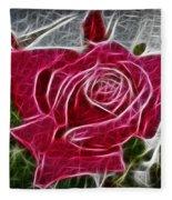 Electrostatic Rose Fleece Blanket