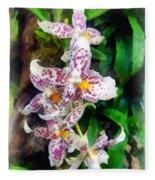 Elegant Beallara Orchid Fleece Blanket