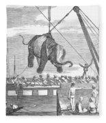 Elephant Hoist, 1858 Fleece Blanket