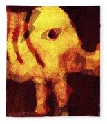 Elephant I Am Fleece Blanket