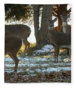 Eleven Deer Standing Fleece Blanket