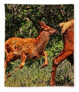 Elk Fawn Fleece Blanket