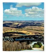 Elk Mountain Ski Resort Fleece Blanket