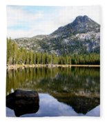 Elkhorn Mountain Reflection Fleece Blanket