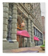 Ellicott Square Building And Hsbc Fleece Blanket
