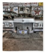 Elvis' Cadillac Fleece Blanket