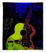 Elvis Gibson J200 Guitar Fleece Blanket