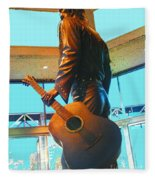 Elvis In Bronze At Memphis Fleece Blanket