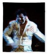 Elvis Is Alive Fleece Blanket