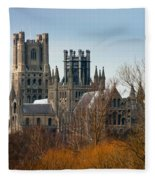 Ely Cathedral Scenic Fleece Blanket