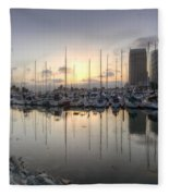 Embarcadero Marina   Fleece Blanket