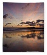 Embleton Bay Sunrise Fleece Blanket