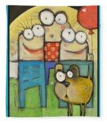 Embrace Your Inner Child Poster Fleece Blanket