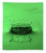Emerald Crown Fleece Blanket