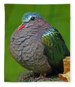 Emerald Ground Dove Fleece Blanket